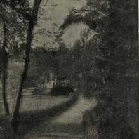 Павловский парк. Вид на долину р. Славянки и мост Висконтия