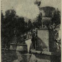 Павловский парк. Современное использование моста Висконтия (фотография 1935 г.)