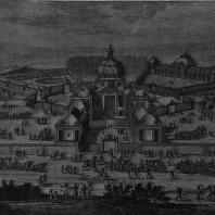 Версаль, «Менажри» (зверинец). 1668 г, Арх. Лe-Bo. Гравюра Перелля