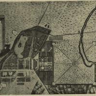 Детское село. План 1770 г. (по хромолитографии Кувакина)