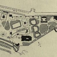 Мюнстер. План Вестфальского зоосада. 1874 г.