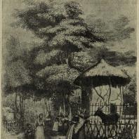 Париж. Jardin des Plantes. Убежище для животных. Гравюра середины XIX в.