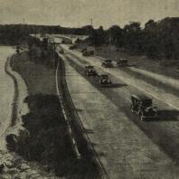 Общий вид парковой дороги в Америке