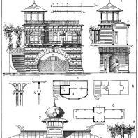 Лист 13. Мотивы садовых павильонов. «Мотивы садовой архитектуры», Стори В.Г., С.-Петербург, 1911
