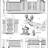 Лист 16. Мотивы садовых павильонов. «Мотивы садовой архитектуры», Стори В.Г., С.-Петербург, 1911