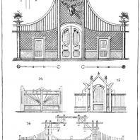 Лист 18. Мотивы садовых павильонов. «Мотивы садовой архитектуры», Стори В.Г., С.-Петербург, 1911