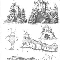 Лист 4. Мотивы садовых гротов. «Мотивы садовой архитектуры», Стори В.Г., С.-Петербург, 1911