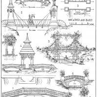 Лист 6. Мотивы садовых мостиков. «Мотивы садовой архитектуры», Стори В.Г., С.-Петербург, 1911