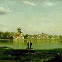 Усадьба Останкино. Общий вид со стороны пруда. Подключников Н.И. 1836 г.