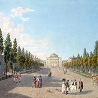 Вид на Большой дворец в Павловске со стороны парка. Матиас Габриэль Лори Младший. 1808