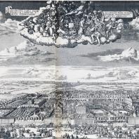 Усадьба Ф.А. Головина на Яузе на фоне панорамы Москвы (начало XVIII в.)