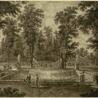 Петергоф. Каскад в нижнем саду Рисунок С. Щедрина с гравюры С. Галактионова