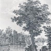 Павловск — прославленный памятник садового зодчества, созданный русскими мастерами. Старинная гравюра
