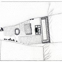 Хамовенный двор в Москве (чертеж середины XVIII в.). Появление первых признаков регулярности в планировке боярской усадьбы