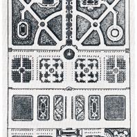 Проект «образцового» регулярного сада, разработанный архитектором А. Леблоном в начале XVIII в.