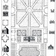 Проект типовой усадьбы, разработанный Д. Трезини