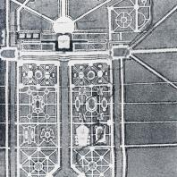 Проект ансамбля Стрельни, составленный А. Леблоном в 1717 г.