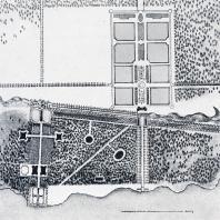 Начальный этап развития ансамбля Петергофа. План И. Браунштейна 1714—1716 гг.