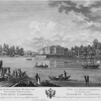Вид дворца Строганова на Каменном острове