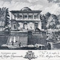 Регулярный сад при Александро-Невской лавре. Гравюра А. Зубова, 1717 г.