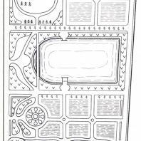 План аптекарского огорода Генерального военного госпиталя в Москве (сейчас филиал ботанического сада МГУ)
