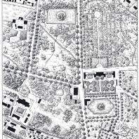 Сады Екатериненталя. Чертеж 1874 г.