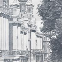 Парковый фасад Екатерининского дворца в Царском Селе