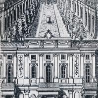 Висячий сад на кровле Малого Эрмитажа. Гравюра 1773 г.