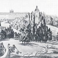 Последовательное чередование пейзажных картин в Царском Селе 1790-х годов. Гравюра с рисунка М. Домам-Демортре