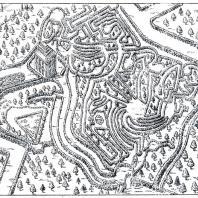 План лабиринта вблизи Китайского дворца в Ораниенбауме