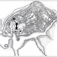 Сеть видовых дорог, система полян пейзажно-романтического парка Царицыно