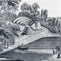 Образцовый фрагмент парков конца XVIII в. — амфитеатр на берегу пруда