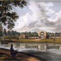 Кузьминки — конный двор. Из альбома «Виды села Влахернского» (1841 г.)