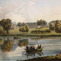 Кузьминки. Вид западной части дома. Из альбома «Виды села Влахернского» (1841 г.)