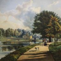 Кузьминки. Вид мельницы. Из альбома «Виды села Влахернского» (1841 г.)