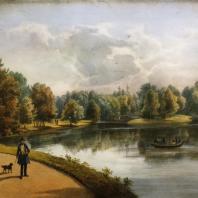 Кузьминки. Вид чугунного моста. Из альбома «Виды села Влахернского» (1841 г.)