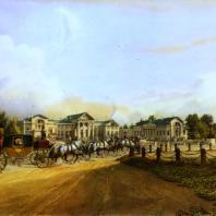 Кузьминки. Вид дома. Из альбома «Виды села Влахернского» (1841 г.)
