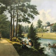 Кузьминки. Вид оранжереи с южной стороны. Из альбома «Виды села Влахернского» (1841 г.)
