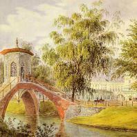 Царское Село. Крестовый мост. С литографии 1840 г.