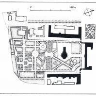 В центре Калуги. Один из первых «публичных» городских садов, сохранивших планировку XVIII в.