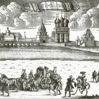 Измайлово, 1726 г. (?) Гравюра И. Зубова