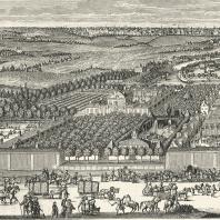 Вид усадьбы на берегу р. Яузы в начале XVIII в. Фрагмент гравюры де-Витта