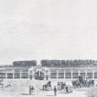 Останкино. Вид с балкона дворца Картина Д. Лифона, 1799 г.