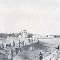 Пейзаж с Останкинским дворцом. Картина неизвестного художника XIX в.