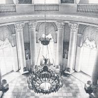 Архангельское. Овальный зал дворца