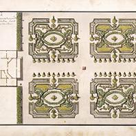 Нескучное. План партера перед главным домом (1753 г.) Архитектор Д.В. Ухтомский