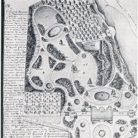План английского сада в усадьбе Остафьево (1821 г.) Архитектор Ф. Мельников