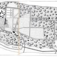 План усадьбы Горки, составленный в 1924 г. С.М. Беком и Н.П. Афанасьевым по измерениям 1923 г.