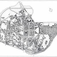 План Екатерининского и Александровского парков