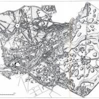 План Павловского парка (составлен архитектором Н. Дроздовым в 1937 г. по материалам аэрофотосъемки)